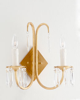 Crystal 2-Arm Sconce