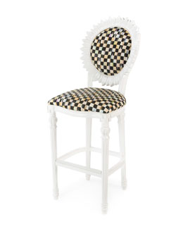 Sunflower White Outdoor Barstool