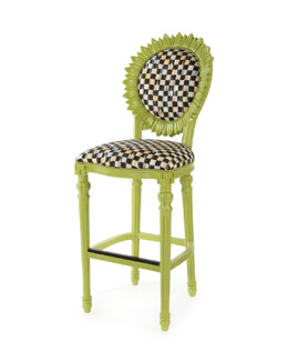 Sunflower Chartreuse Outdoor Barstool