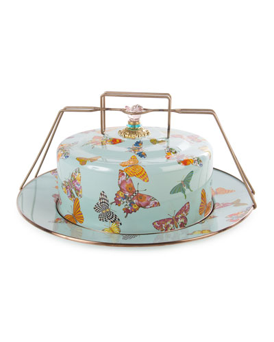 Sky Butterfly Garden Cake Carrier