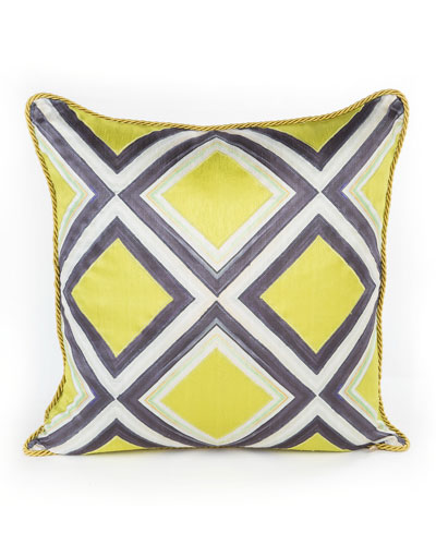 Chartreuse Mosaic Pillow