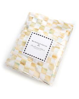 Twin Parchment Check Duvet Cover