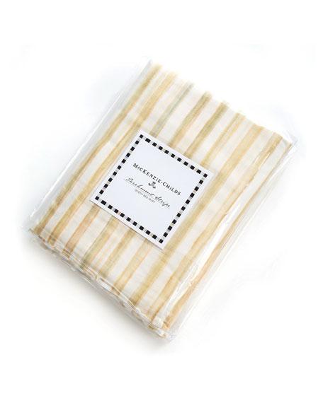 Queen Parchment Stripe Dust Skirt