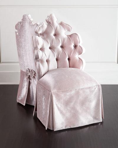 Isabella Blush Vanity Seat