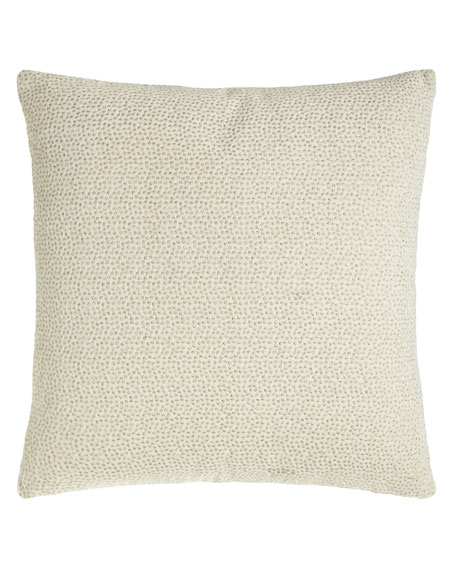 "Embroidered Velvet Pillow, 18""Sq."
