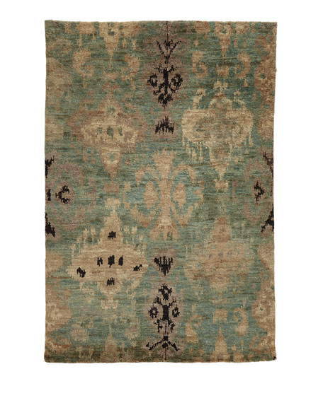 """Majesty Hand Knotted Jute Rug, 9.6"""" x 13.6"""""""