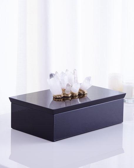 Crystal-Adorned Black Box