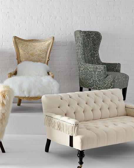 Fiorello Hairhide Wing Chair