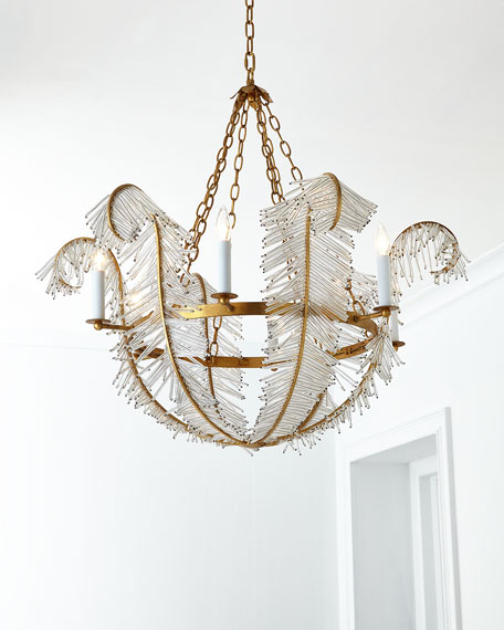 Visual comfort feather 6 light chandelier aloadofball Choice Image