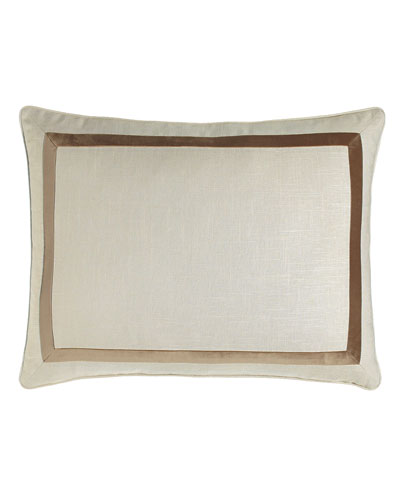 King Jefferson Sham with Velvet Trim
