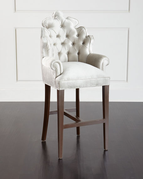 Haute House Isabella Tufted Barstool : HCH8A59mu from www.horchow.com size 456 x 570 jpeg 26kB