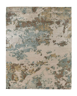 Beige Abstract Flatweave Rug, 8' x 10'