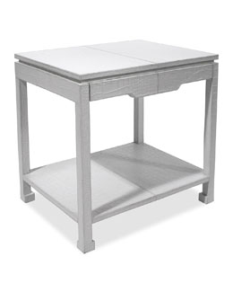 Preston White Side Table