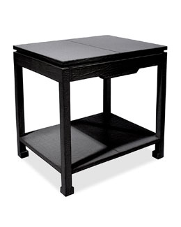 Preston Black Side Table