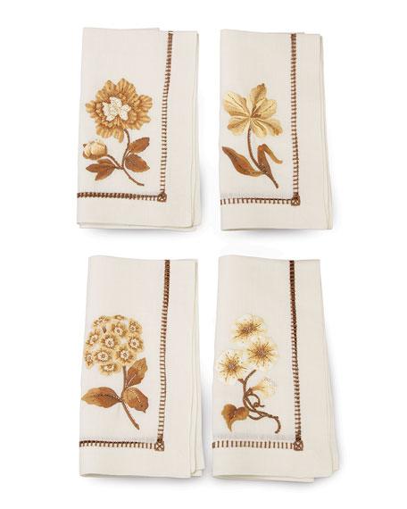 Floral Dinner Napkins, 4-Piece Set