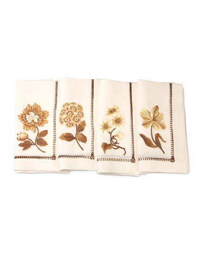Floral Dinner Napkins, 4-Piece Set