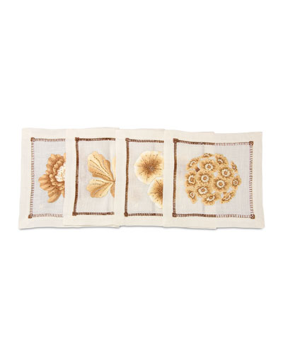 Floral Cocktail Napkins, 4-Piece Set