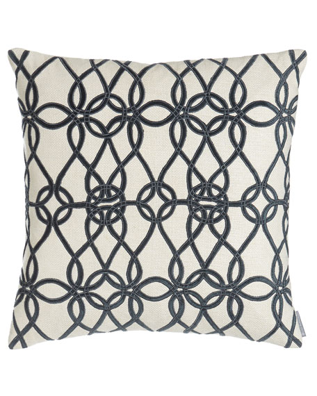Coastal Chic Chain-Link Pillow