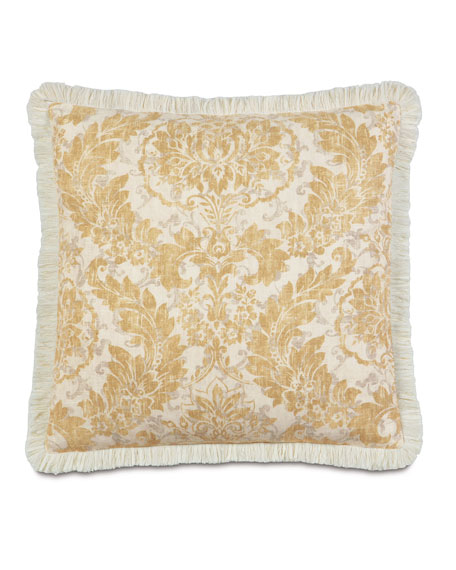 "Fringed Sabelle Pillow, 27""Sq."
