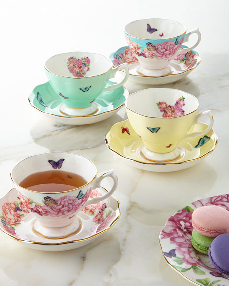 Teacups & Saucers, Set of 4