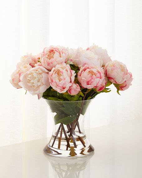 John Richard Collection Peonies N Pink Faux Floral Arrangement