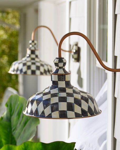 "Courtly Check 12"" Barn Sconce"