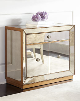 Shilo Golden Beaded Bar Cabinet