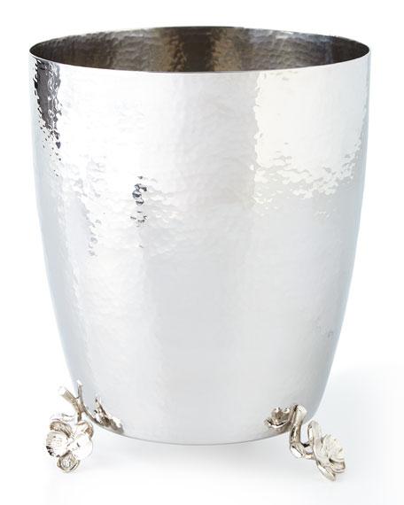 White Orchid Wastebasket