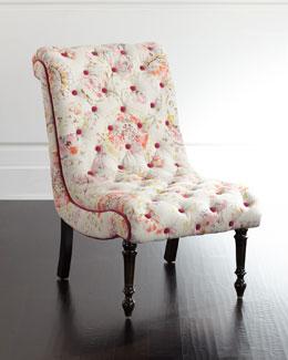 Talia Tufted-Linen Chair