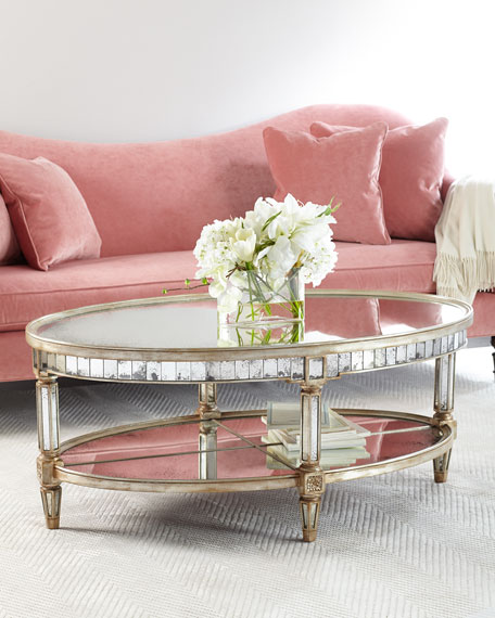 John-Richard Collection Keene Mirrored Coffee Table