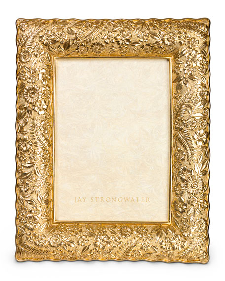 """Ruffle-Edge Floral 5"""" x 7"""" Picture Frame"""