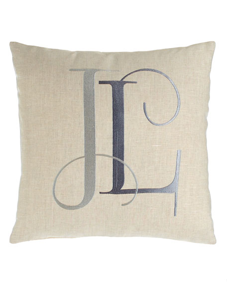 Tangier Pillow with Monogram, 16