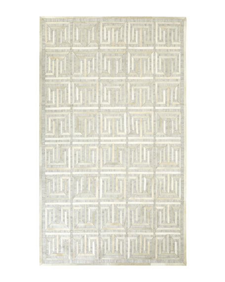 Exquisite Rugs Sterling Greek Key Rug, 8' x