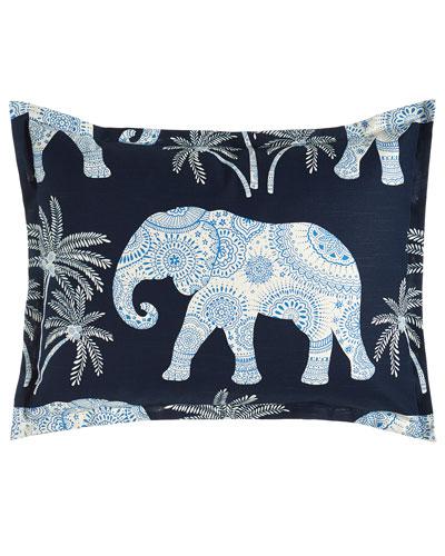 King Ellie Elephant-Print Sham