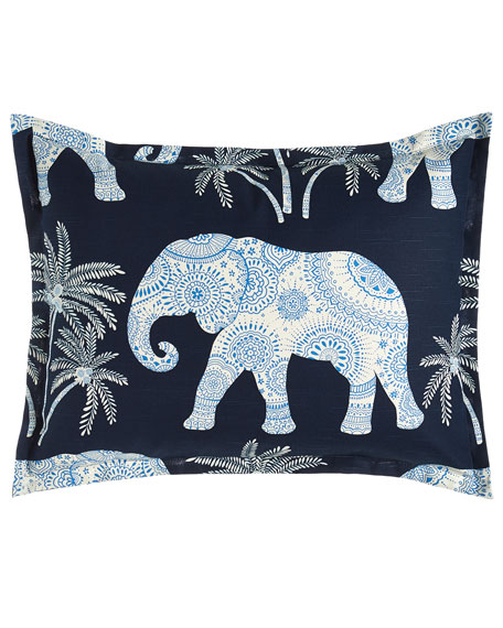 King Ellie Elephant-Print Sham