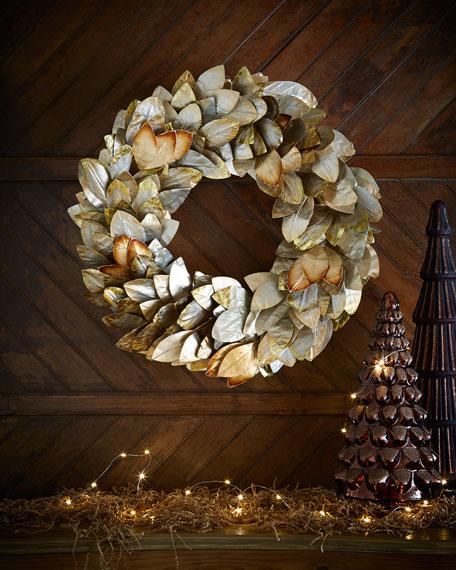 """Champagne Magnolia 28"""" Wreath"""