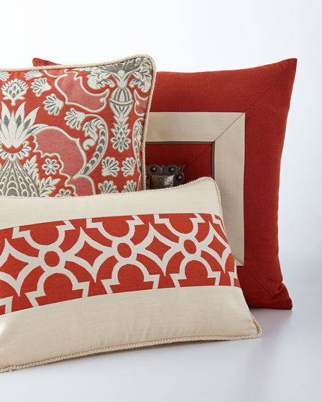 Elaine Smith St. Bartu0027s Gate Outdoor Pillow