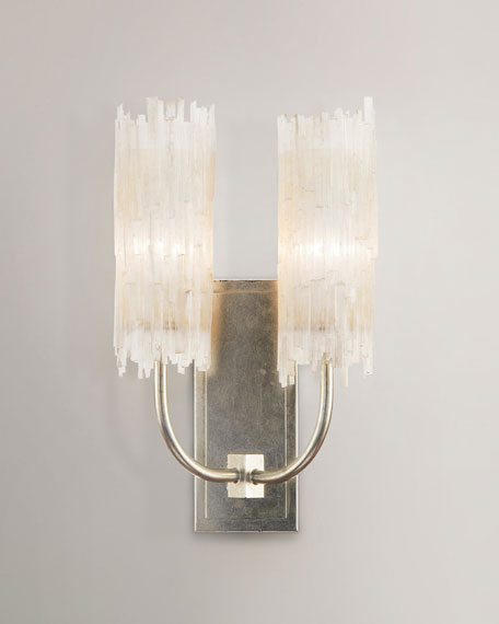 John richard collection selenite double wall sconce