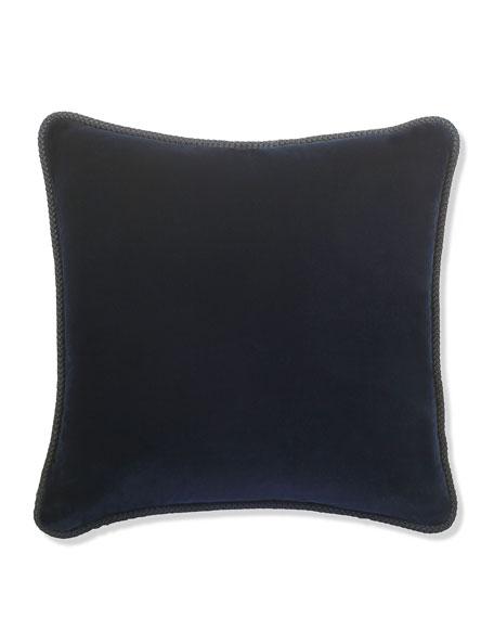 """Indigo Velvet Pillow, 22""""Sq."""