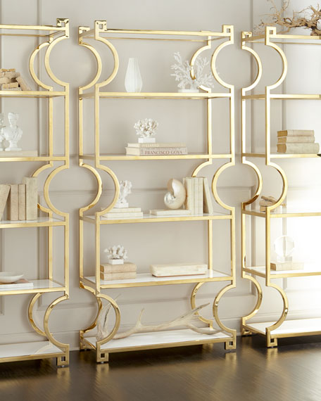 Hayworth Brass Etagere