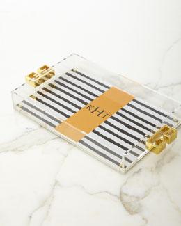 Black & White Stripe Tray
