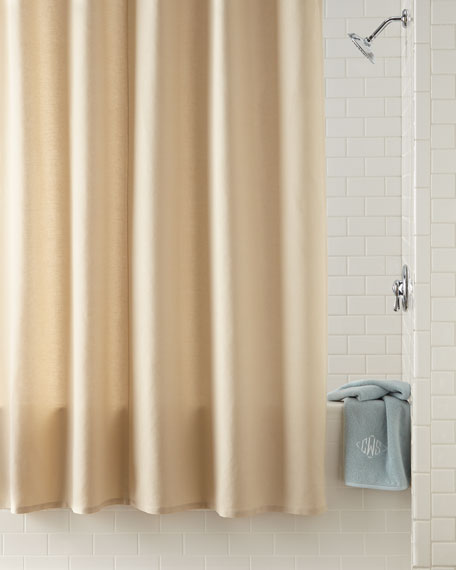 Waterworks Studio Linen Cotton Shower Curtain