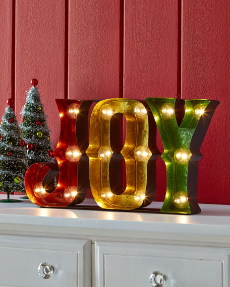 Joy Sign With Marquee Lights