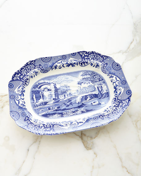 Blue Italian Platter
