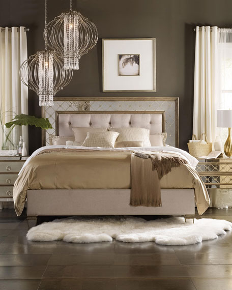 Hooker Furniture Ilyse Mirrored King Bed