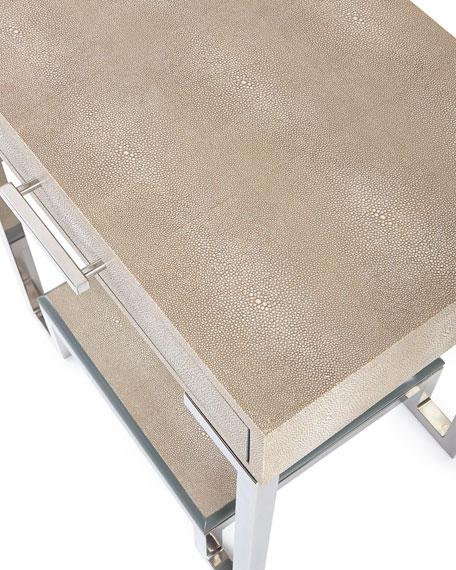 Corgan Nickel End Table