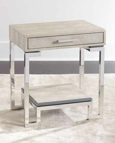Corgan Nickel End Table