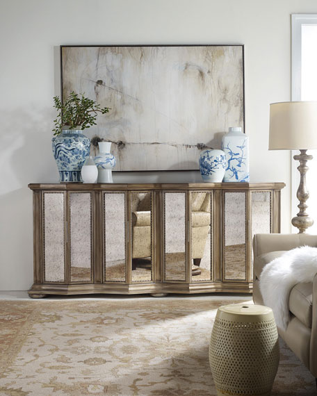 Hooker Furniture Britt Mirrored Credenza