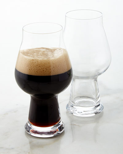 Stout/Porter Beer Glasses, Set of 2
