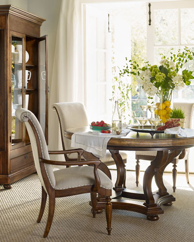Cecile Pedestal Dining Table
